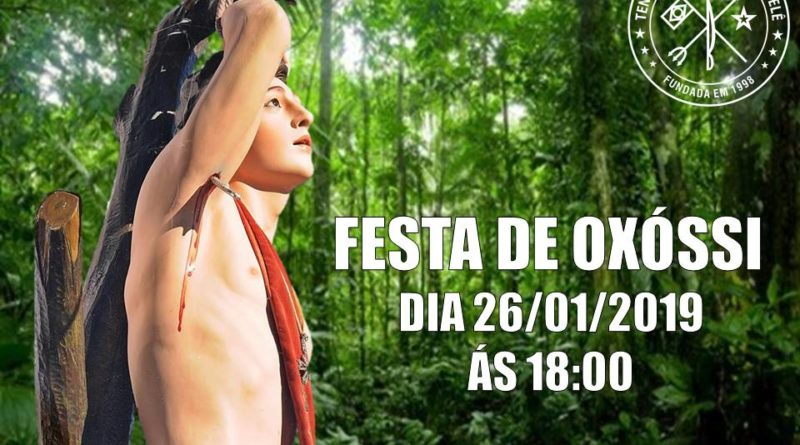 É HOJE… Convidamos para a nossa anual festa á Oxóssi  ás 18:00